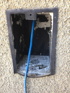 Old box for doorbell-intercom