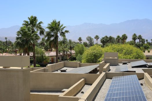 Solar PV on a Palm Sorings rooftop