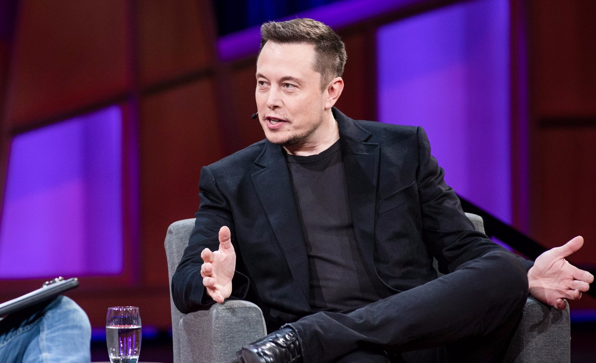 Elon Musk explaining Tesla's previous brush with bankruptcy