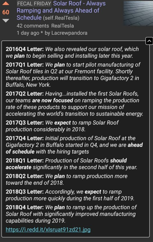 Solar Roof Tile Statements (from Reddit user Lacrewpandora)